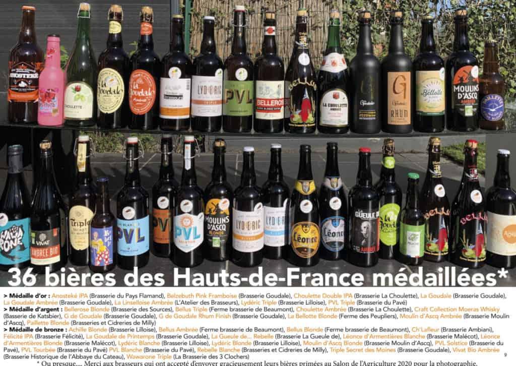 36 bières médaillées au Salon de l'Agriculture 2020