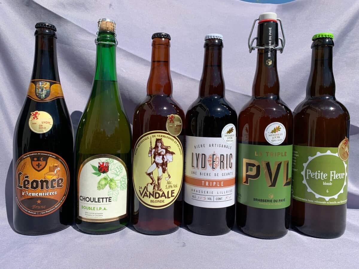 Coffert de 6 bières des hauts-de-france récompensées par une médaille d'or au salon de l'agriculture et au concours international de lyon